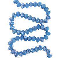 👍 Bestel Facet 8x6mm | riviera blue | pearl shine coating | pakje van 68 stuks online bij Seasidebeads 👍 - levering in 24u en gratis va 50€ - veilige betaling - kortingen - 😊 superservice met de glimlach