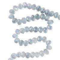 👍 Bestel Facet 8x6mm | soft blue | pearl shine coating | pakje van 68 stuks online bij Seasidebeads 👍 - levering in 24u en gratis va 50€ - veilige betaling - kortingen - 😊 superservice met de glimlach