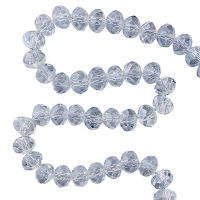 👍 Order Facet 8x6mm | pale blue | pearl shine coating | pack of 68 pieces online at Seasidebeads 👍 - delivery in 24h and free from 50€ - secure payment - discounts - 😊 superservice with a smile