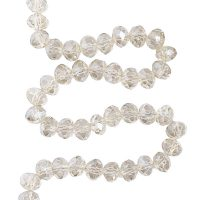 Facet 8x6mm | champagne | pearl shine coating | pakje van 68 stuks