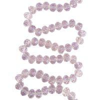 Facet 8x6mm | pink2 | pearl shine coating | pakje van 68 stuks