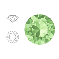 Swarovski Elements | xirius pointed chaton | 1088-SS29 (6,23mm) | chrysolite | pakje van 12 stuks