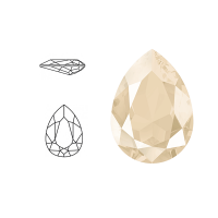 Swarovski Elements | pear fancy stone | SS4320 (14 x 10mm) | crystal - ivory cream | prijs per stuk