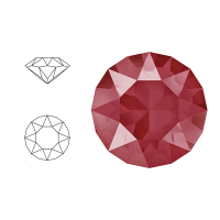 Swarovski Elements | xirius pointed chaton | 1088-SS29 (6,23mm) | crystal - royal red | pakje van 12 stuks