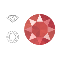 Swarovski Elements | xirius pointed chaton | 1088-SS29 (6,23mm) | crystal - light coral | pakje van 12 stuks