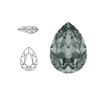 Swarovski Elements | pear fancy stone | SS4320 (14 x 10mm) | black diamond | prijs per stuk