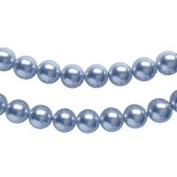 Top Japanese Quality | pearl beads 8mm | light denim | pakje van 20 stuks