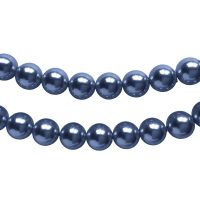 Top Japanese Quality | pearl beads 8mm | dark denim | pakje van 20 stuks