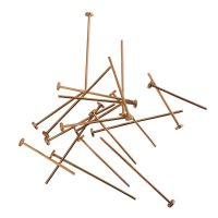 Head pin 22x0,8mm | large round 2,75mm head | rose gold | easy pliable top quality | | 10 gr = +- 79 stuks