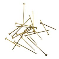 Head pin 20x0,8mm | large round 2,75mm head | gold | easy pliable top quality | 10 gr = +- 84 stuks