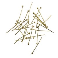 Head pin 25x0,7mm | Ball head | gold | | | 10 gr = +- 83 stuks