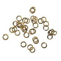 Jump Ring 4x0,7mm   gold   top quality coating   10 G = +- 300 stuks
