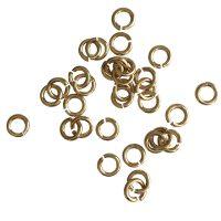 Jump Ring 5x1mm   gold   top quality   10 gr = +- 115 stuks