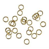 Jump Ring 5x0,8mm   gold   top quality   10 gr = +- 176 stuks
