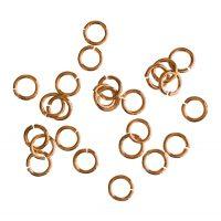 Jump Ring 5x0,8mm   rose gold   top quality   10 gr = +- 176 stuks