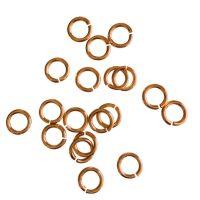 Jump Ring 6x1mm   rose gold   top quality   10 gr = +- 100 stuks