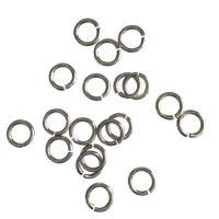 Jump Ring 6x1mm   silver   top quality   10 gr = +- 100 stuks
