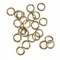 Jump Ring 7x1,2mm   light gold   basic quality   10 gr = +- 57 stuks
