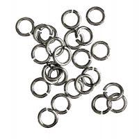 Jump Ring 7x1,2mm   antique silver   basic quality   10 gr = +- 57 stuks