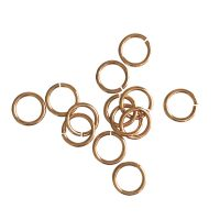 Jump Ring 8x1mm   rose gold   top quality   10 gr = +- 64 stuks