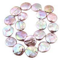 Freshwater pearl | coin 13-14mm | lilac || pakje van 6 stuks