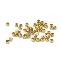 Crimp bead 2,0mm| gold - top quality | pakje van 1 gr || 1 gr = +- 80 stuks