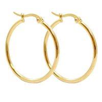 Earring XL | top quality - 30mm | gold | | pakje van 2 stuks